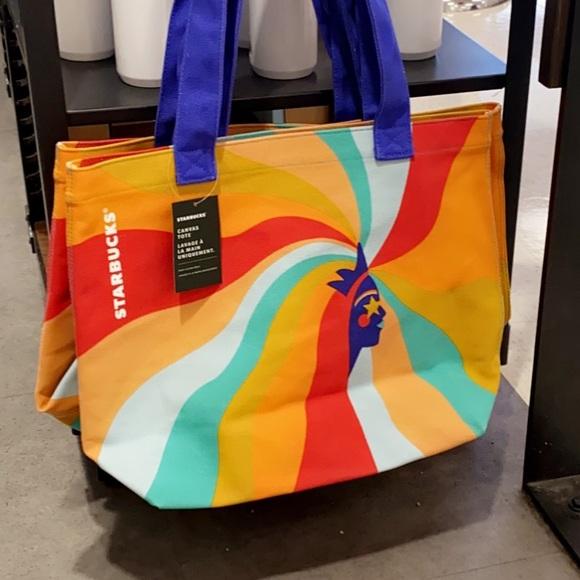 2020 Starbucks Canvas Bag Tote Shopping Bags Women Lady Handbag Limited Edition